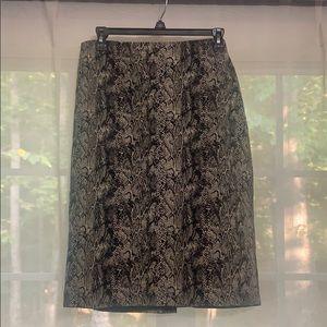 Talbots Snake Print Pencil Skirt Size 16
